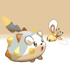 little fanart for the two cute new pokemon from Sun and Moon Togedemaru and Cutiefly Pokemon Ships, My Pokemon, Cool Pokemon, Pokemon Cards, Pikachu, Random Pokemon, Pokemon Stuff, Pokemon Images, Pokemon Pictures