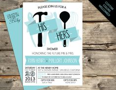 his u0026 hers couples shower invitations