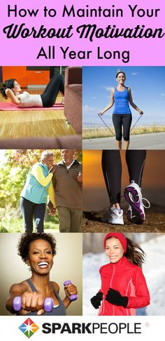Rain, sun, wind or snow--here's how to stay motivated to exercise ALL YEAR LONG. | via @SparkPeople #fitness #workout #motivation