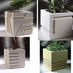 Cement Flower Pots, Diy Concrete Planters, Concrete Molds, Diy Planters, Succulent Planters, Succulents Garden, Cement Art, Concrete Crafts, Concrete Art