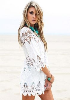 811e54225cf1 Maiya Bohemian Cover-Up Mexican Dresses