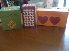 Boxes cut with Box  It Up Cricut Cartridge