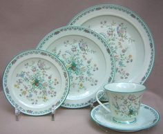 Noritake- paradise (green) my mother's china pattern that will be mine one day