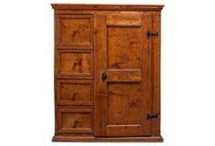 French Pine Farm Cabinet