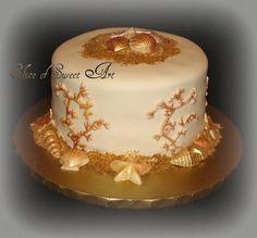 Golden Sands - Beach Themed Cake