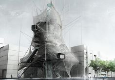 Recent alums Ryohei Koike (B.Arch '10) and Jarod Poenisch (B.Arch '10) of SCI-Arc were awarded third prize in the 2010 Skyscraper Competition organized by eVolo magazine. Their project was initially developed for the XLAB design studio taught by Peter Testa. The vertical studio focuses on exploring robotic construction and computational materials as the basis for a new architectural language.