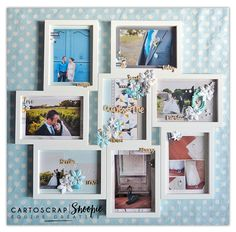 Pêle-mêle photos revisité par Snoopie ! De quoi personnaliser votre intérieur avec une touche scrap ou faire un cadeau :) - Blog Cartoscrap