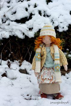 Waldorf doll one of a kind textile art doll heirloom by snugabud