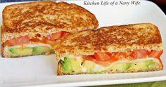tomato avocado mozzarella grilled cheese easy recipe