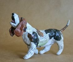Items similar to Basset Hound, Whimsical Paper Mache Dog Sculpture on Etsy Paper Mache Projects, Paper Mache Crafts, Clay Crafts, Rope Crafts, Paper Mache Sculpture, Dog Sculpture, Animal Sculptures, Basset Hound, Hound Dog