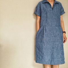 Simple old school dress.  Factory shop style!  It would be cute with Keds or old school Converse.
