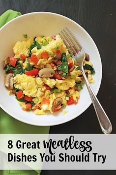 8 Great Meatless Meals You Should Try | Good Cheap Eats Meatless meals have saved my budget more times than I can count. If I plan wisely, not only do they save me money, but we also get some extra veggies in our diet. http://goodcheapeats.com/2016/10/meatless-meals/