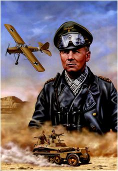 Erwin Johannes Eugen Rommel (15 November 1891 – 14 October 1944), popularly known as the Desert Fox, was a German field marshal of World War II. He earned the respect of both his own troops and his enemies.