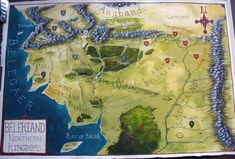 """Not great pics, but here are some sneak peaks of the Map of Beleriand I just finished for GenCon. Fantasy Map, Fantasy World, Silmarillion Map, Thanks For The Compliment, Middle Earth Map, City Maps, Tolkien, Lotr, Old World"