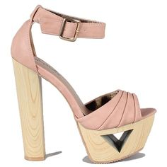 Blush Open-toe Sandals Wood #Heels -> http://www.cutesyoriginals.com/product/lakie-09-blush-white-open-toe-platform-sandal-wood-heels/