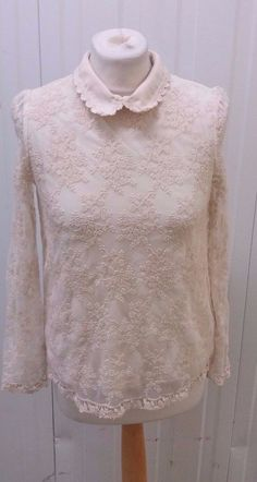 Ladies Beige Broderie Anglaise Shirt by Lily J Size Large Lily, Turtle Neck, Beige, Sweaters, Shirts, Fashion, Broderie Anglaise, Moda, Fashion Styles