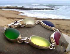 stunning bracelet crafted by Santa Cruz Sea Glass
