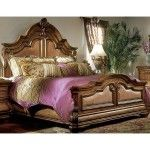 AICO Furniture - Tuscano Mansion Bed in Biscotti - 3401X-3402X-3403X SPECIAL PRICE: $2,217.00