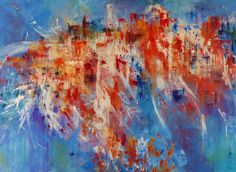 cityscape is a large 30x40 abstract painting