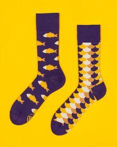 Fish and Scales Socks  men socks  colorful socks  by ManyMornings
