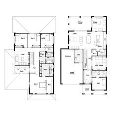 Model House Plan, Dream House Plans, House Floor Plans, Floor Plans 2 Story, House Plans 2 Storey, Pool House Designs, House Construction Plan, Architectural Design House Plans, Hamptons House