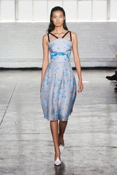 This dress draws attention to an often forgotten part of the female body: the collarbone. We love it.  #nyfw #ss2014 #tanyataylor