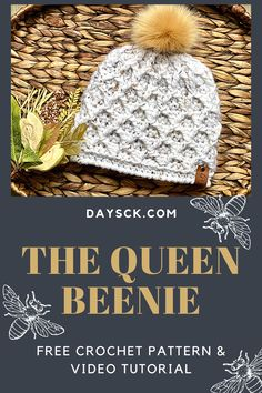 This beautiful crochet hat is easier to make than it looks! Complete with a free written pattern as well as a YouTube video to help with the challenging post work. Great for market prep, as it takes around an hour or less to make! #freecrochetpattern #crochettexture #crochetdiamondstitch #vendormarketprep #crochetfashion Easy Crochet Hat, Double Crochet, Single Crochet, Free Crochet, Knit Crochet, Crochet Headbands, Crochet Things, Crochet Designs, Crochet Patterns