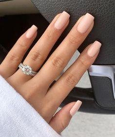 Pointy Nails, Glitter Nails, Fun Nails, Prom Nails, Nail Designs Spring, Simple Nail Designs, Natural Wedding Nails, Natural Nails, Pink Nail Colors