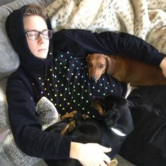 Tyler Oakley and his dogs = cutest picture ever