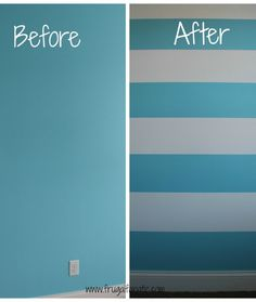 Easy instruction on how to paint stripes on a wall