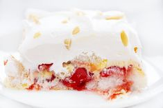 Advertisement Cherry Vanilla Heaven Dessert is an angel food cake layered with cherries, vanilla pudding, and whipped cream! This light and fluffy dessert is easy [. Vanilla Desserts, Cherry Desserts, Layered Desserts, Cherry Recipes, Pudding Desserts, Summer Desserts, No Bake Desserts, Easy Desserts, Delicious Desserts