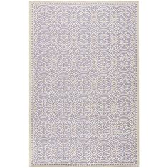 Safavieh Cambridge Collection CAM123C Handmade Lavender and Ivory Wool Area Rug, 6 feet by 9 feet (6′ x 9′) #handmade Safavieh's Cambridge Collection is the ultimate illustration of traditional elegance. This lavender hand-tufted wool rug brings a Moroccan inspired bold geometric pattern to any living space. The ivory background allows it to pair easily with almost any furniture or wall colors, while the geometric pattern serves as a striking centerpiece.  This exquisite rug features..
