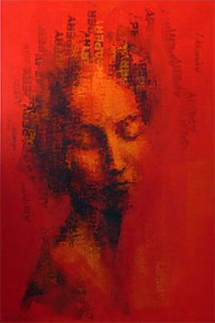 Binary Visage: Apery - Acrylic Painting by Claude Chandler