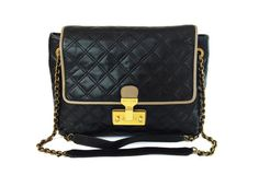 8aac95547a7f Marc Jacobs The XL Quilted Single Black Leather Shoulder Bag  850.  Available through Shop-