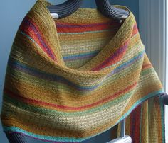 Handwoven Scarf, Woven Shawl, Wrap, Painted Mountains. $88.00, via Etsy.