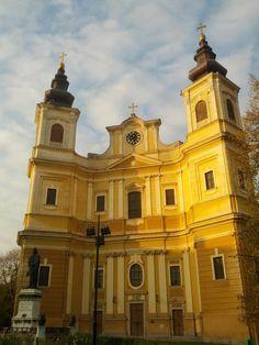 De vizitat: Catedrala Romano-Catolică – cel mai mare edificiu în stil baroc din România | Oradea in imagini Iglesias, Eastern Europe, Mai, Notre Dame, Architecture, Building, Travel, Cathedrals, Europe