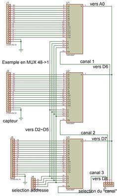 Salut à tous ! Toujours dans le cadre d'une demande sur le forum arduino, il m'avait été demandé un exemple de code pour faire du mux/demux via plusieurs 74HC4067. Le schémas est le suivant : Pour ...