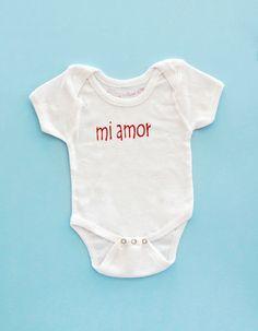 onesie mi amor darling in Spanish by ALSKLINGboutique on Etsy, $19.00