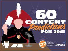 60 Content Marketing Predictions for 2015 #content #contenu