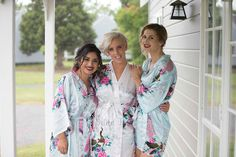set of 5 bridesmaid robes gowns, bride robe, wedding party robes, satin robe, kimono set of 5 by BrideTribes on Etsy https://www.etsy.com/listing/265913170/set-of-5-bridesmaid-robes-gowns-bride