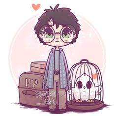 naomi_lord Little Philosopher's Stone era Harry just off to Hogwarts! ✨💕✨ Okay so I have a plan to draw 7 chibi Harry's for each book! Harry Potter Tumblr, Fanart Harry Potter, Harry Potter Kawaii, Images Harry Potter, Wallpaper Harry Potter, Harry Potter Thema, Arte Do Harry Potter, Harry Potter Artwork, Cute Harry Potter