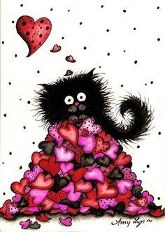 amylyn bihrle art | Art: Thinking of you...often by Artist AmyLyn Bihrle