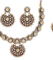 Buy Beautiful Stones Pearl Fashion Necklace Set necklace-set online