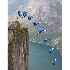 Base jumping in Norway.