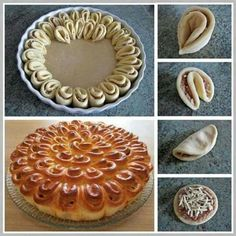 Crisantemo salato sfogliato Recipes to Cook Bread Art, Bread Shaping, Puff Pastry Recipes, Bread And Pastries, Creative Food, Food Design, Finger Foods, Food Inspiration, Dessert Recipes