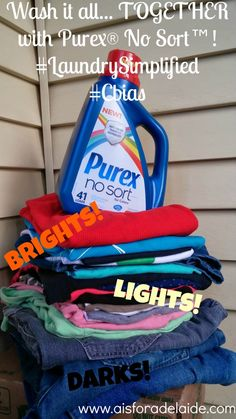 Live life #LaundrySimplified with New Purex® No Sort™ #shop #Cbias #AisForAdelaide #CollectiveBias