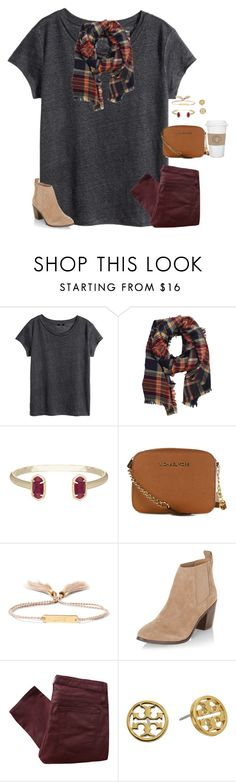 """""""How was everyone's day? Read d please"""" by moseleym ❤ liked on Polyvore featuring H&M, LA77, Kendra Scott, MICHAEL Michael Kors, Chloé, New Look, Helmut Lang, Tory Burch and WALL"""