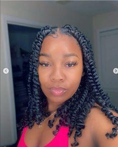 Twist Braid Hairstyles, Back To School Hairstyles, Baddie Hairstyles, African Braids Hairstyles, Box Braids Hairstyles, Girl Hairstyles, Black Girl Braids, Braids For Black Hair, Braids With Curls