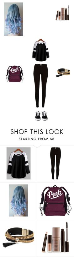 """""""PINK"""" by abbiplier on Polyvore featuring Simons and Laura Mercier"""
