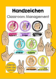 Hand Sign for Effective Classroom Management # School Startup with - Teaching Material in the Subjects Interdisciplinary - Effective Classroom Management, Hand Signals, La Formation, School Classroom, Toddler Preschool, Primary School, Teacher Resources, Life Lessons, About Me Blog